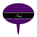 Galones púrpuras conocidos personalizados decoraciones de tartas