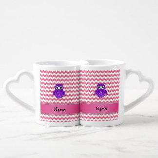 Galones púrpuras conocidos personalizados del rosa tazas para parejas