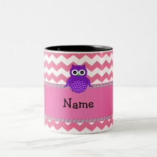 Galones púrpuras conocidos personalizados del rosa taza