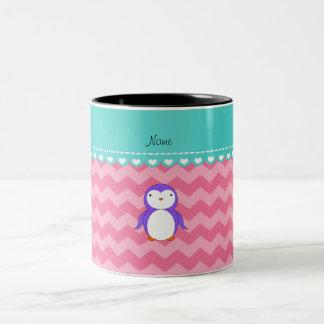 Galones púrpuras conocidos personalizados del rosa taza de café