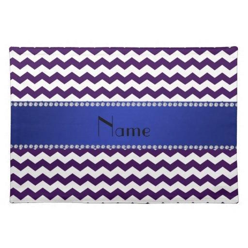 Galones púrpuras conocidos personalizados mantel