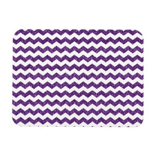 Galones púrpuras del brillo iman rectangular