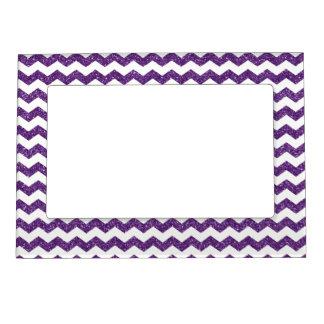 Galones púrpuras del brillo marcos magneticos de fotos