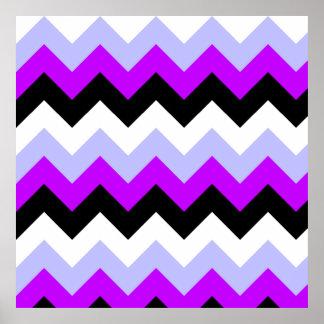 Galones púrpuras, negros, grises póster