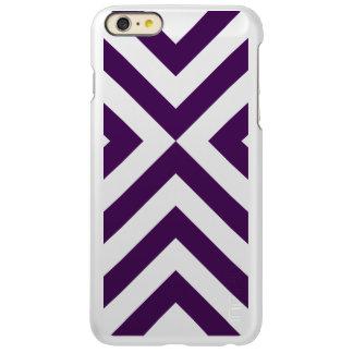 Galones púrpuras y blancos