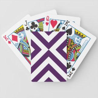 Galones púrpuras y blancos barajas
