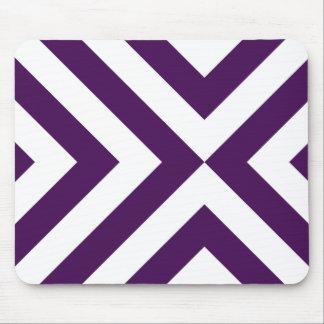 Galones púrpuras y blancos Mousepad