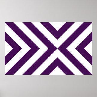 Galones púrpuras y blancos póster