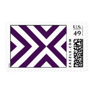 Galones púrpuras y blancos franqueo