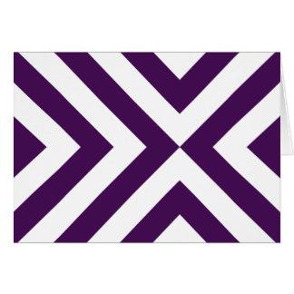 Galones púrpuras y blancos tarjeta de felicitación