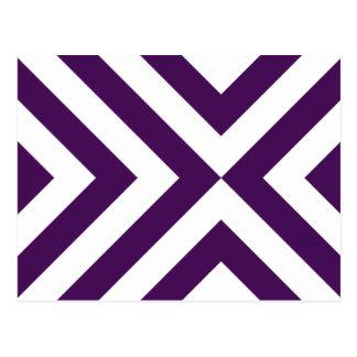 Galones púrpuras y blancos postal