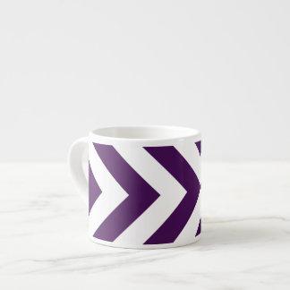 Galones púrpuras y blancos taza espresso