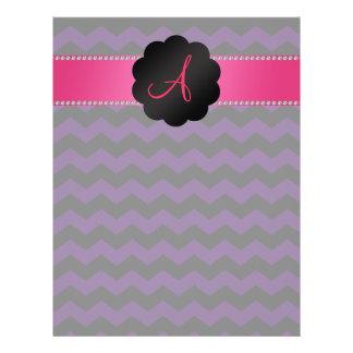 Galones púrpuras y negros del monograma tarjetas informativas