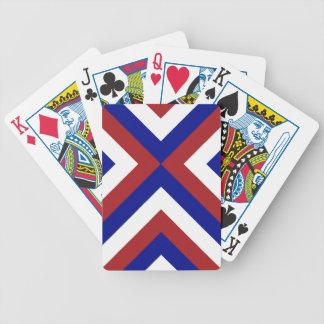 Galones rojos, blancos, y azules barajas de cartas