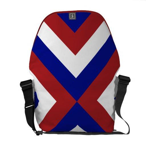 Galones rojos, blancos, y azules bolsas de mensajeria