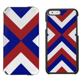 Galones rojos, blancos, y azules funda billetera para iPhone 6 watson