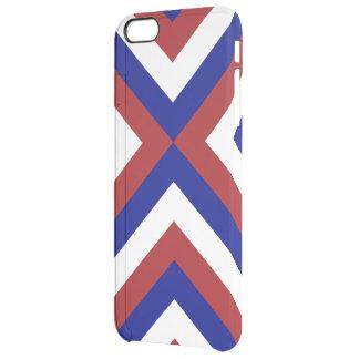 Galones rojos, blancos, y azules funda clearly™ deflector para iPhone 6 plus de unc