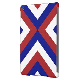 Galones rojos, blancos, y azules funda para iPad air