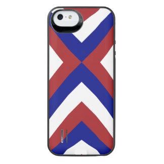 Galones rojos, blancos, y azules funda power gallery™ para iPhone 5 de uncommon