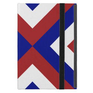 Galones rojos, blancos, y azules iPad mini coberturas