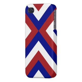 Galones rojos, blancos, y azules iPhone 4 fundas
