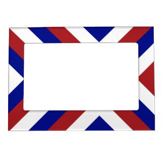 Galones rojos, blancos, y azules marcos magneticos de fotos