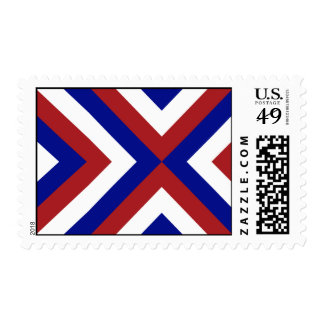Galones rojos, blancos, y azules timbres postales