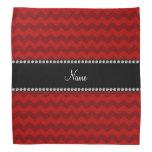 Galones rojos conocidos personalizados bandanas