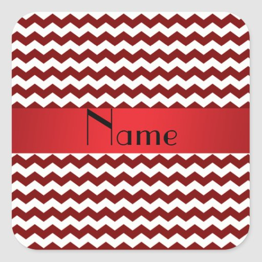 Galones rojos conocidos personalizados pegatina cuadrada