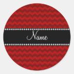 Galones rojos conocidos personalizados pegatinas redondas