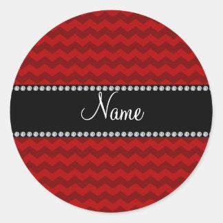 Galones rojos conocidos personalizados pegatinas
