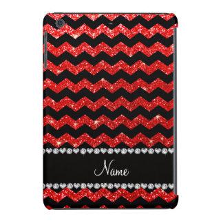 Galones rojos de neón negros conocidos de encargo fundas de iPad mini