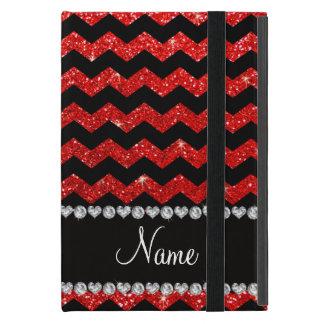 Galones rojos de neón negros conocidos de encargo iPad mini funda