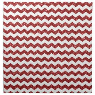 Galones rojos del brillo servilletas imprimidas