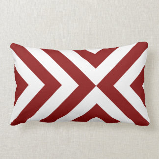 Galones rojos y blancos almohadas