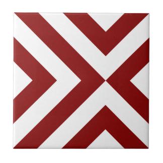 Galones rojos y blancos azulejos cerámicos
