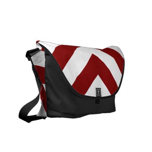 Galones rojos y blancos bolsas de mensajeria