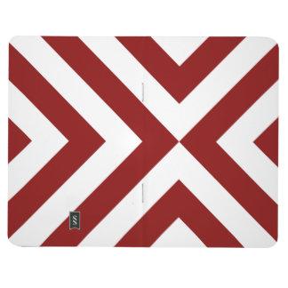 Galones rojos y blancos cuadernos
