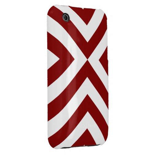 Galones rojos y blancos Case-Mate iPhone 3 protectores