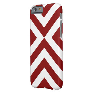 Galones rojos y blancos funda para iPhone 6 barely there