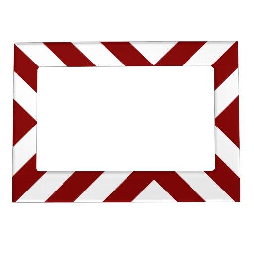 Galones rojos y blancos marcos magneticos de fotos
