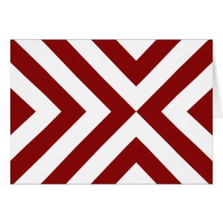 Galones rojos y blancos tarjeta de felicitación