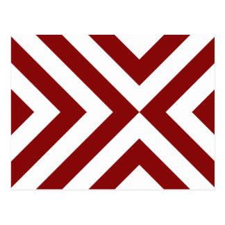 Galones rojos y blancos postal