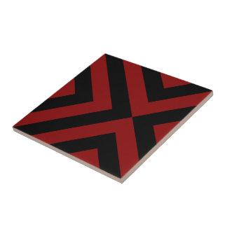 Galones rojos y negros azulejo cuadrado pequeño