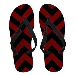 Galones rojos y negros chanclas playa
