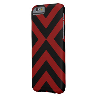 Galones rojos y negros funda de iPhone 6 barely there