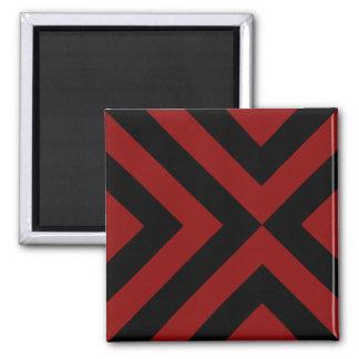 Galones rojos y negros imán cuadrado