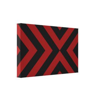 Galones rojos y negros lienzo envuelto para galerias