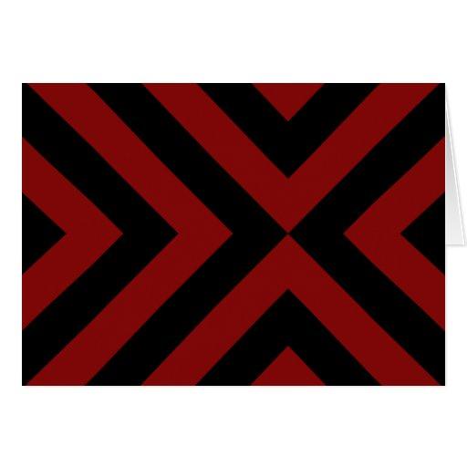 Galones rojos y negros tarjeta de felicitación