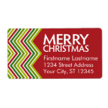 Galones rojos y verdes del navidad etiqueta de envío